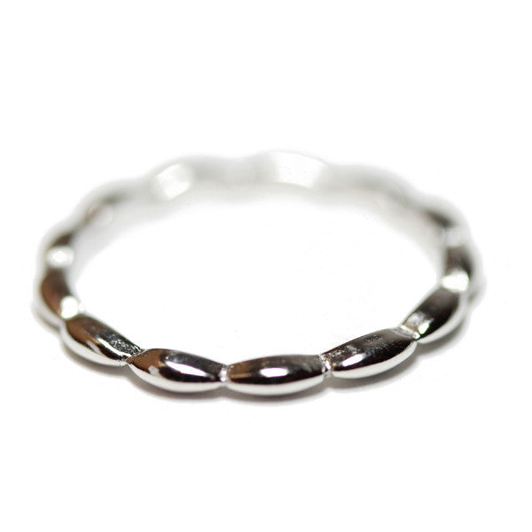 """Bean"" Gold-Dipped Thin Band Stacking Ring"