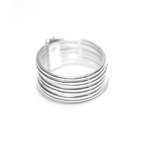 Sterling Silver Thin Band Ring Stacking Set of 7