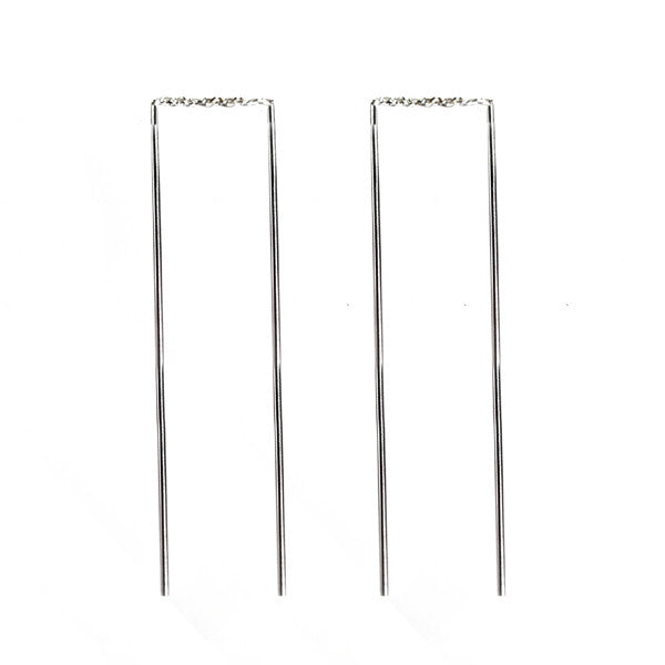 Simple Sterling Silver Threader Earrings