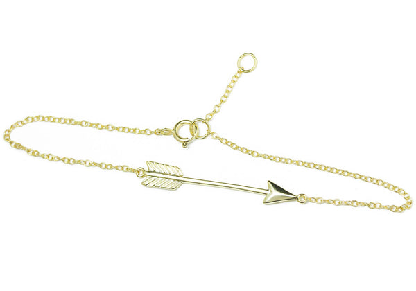 Gold-Dipped Chevron Arrow Charm Bracelet
