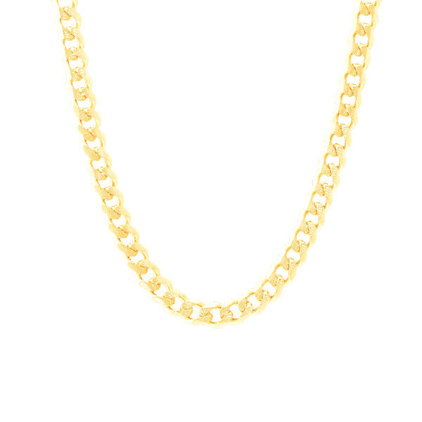 """Curb Couture"" Gold-Dipped Curb Chain Necklace 22 inch"