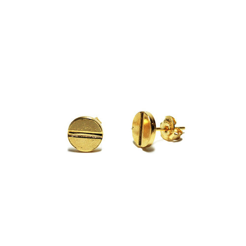 Gold Filled Screwhead Stud Earrings