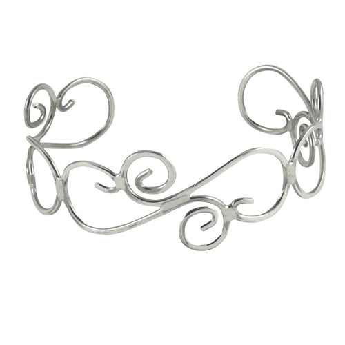 Sterling Lattice Style Cuff Bangle