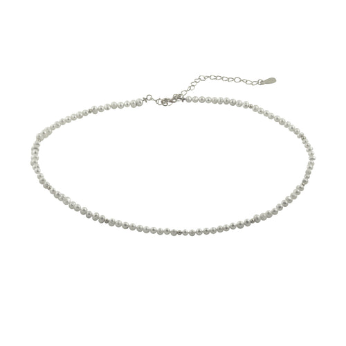 White Pearl Collar Necklace