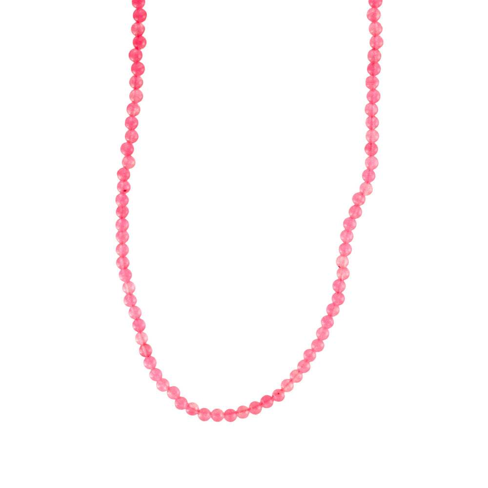 """BubbleGum"" Pink Stone Beaded Necklace"