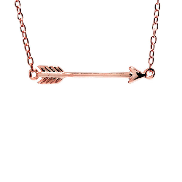 Rosy Mini Arrow Pendant Necklace