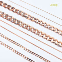 """Curb Couture"" Unisex Rosy Curb Chain Necklace 24 inch"