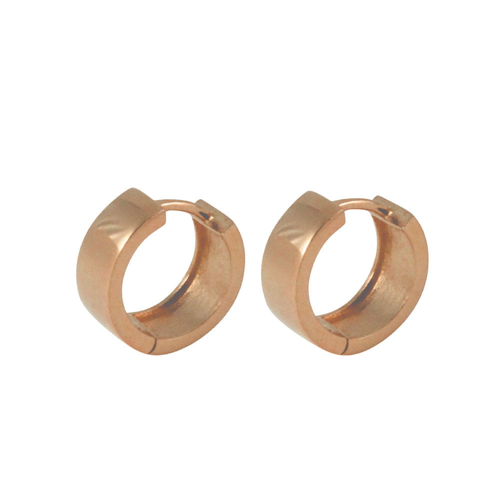 "Rosy Everyday ""Huggie"" Mini Hoop Earrings"