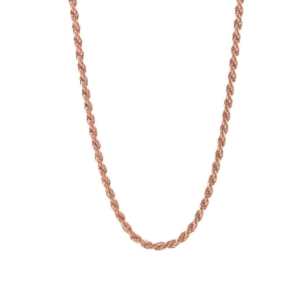 Rosy Rope Style Necklace