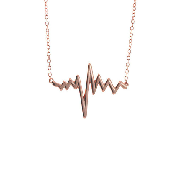 "Rosy ""Heartbeat"" Necklace 17 inch"