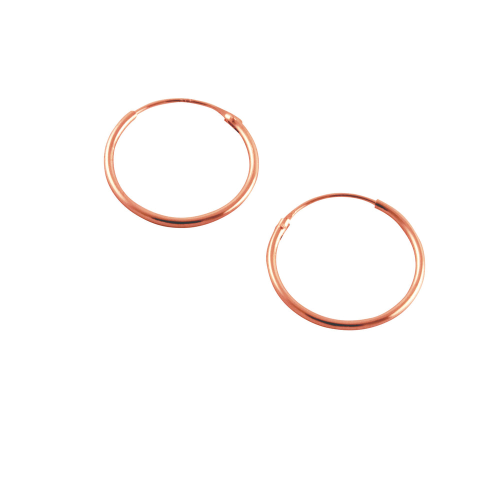 Rosy Round Small Hoop Earrings