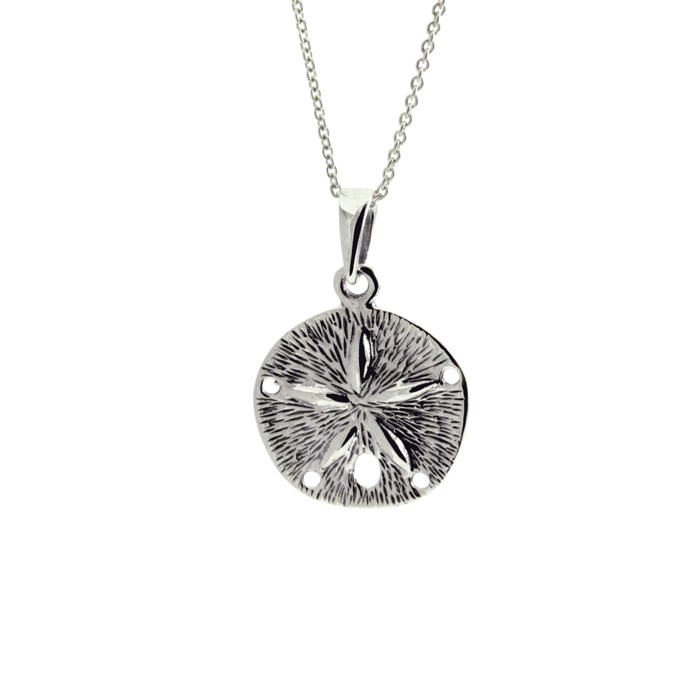 Sterling Silver Sand Dollar Charm Necklace