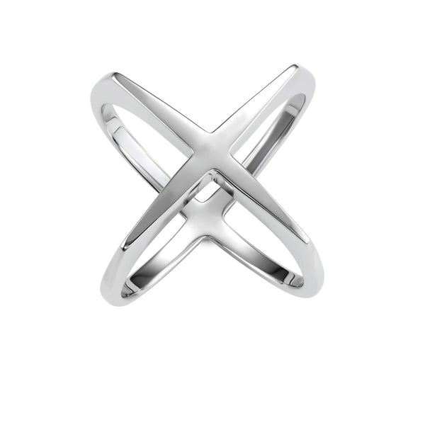 Sterling Silver X Ring