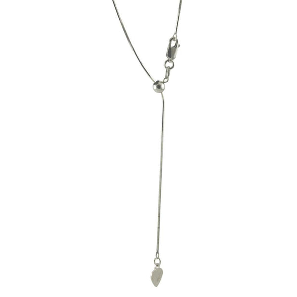 Adjustable Sterling Silver Bolo Chain Necklace