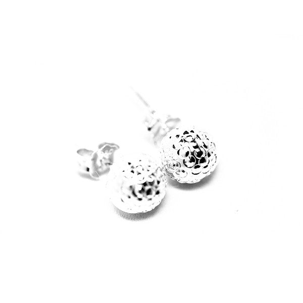 Staccato Sterling SIlver Bead Earrings