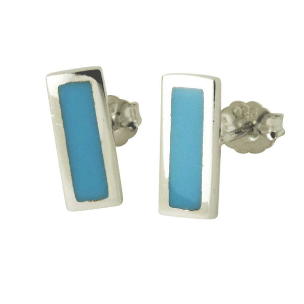 Turkoise Bar Stud Earrings