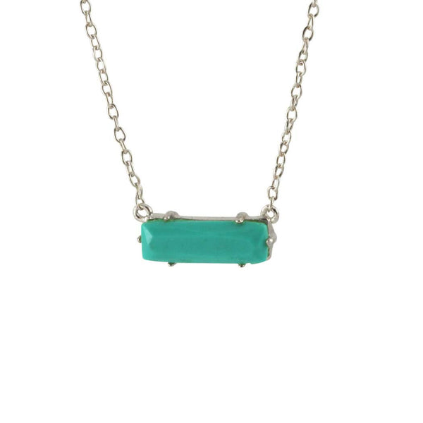 Sterling Turkoise Slice Necklace