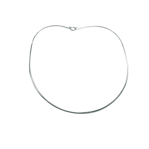 Sterling Silver Thin Collar Necklace with Latch