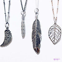 Sterling Silver Small Feather Charm Necklace