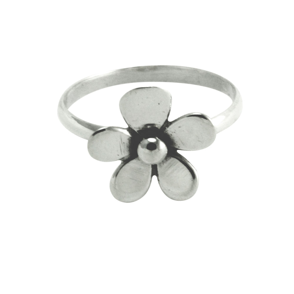Sterling Silver Daisy Flower Ring