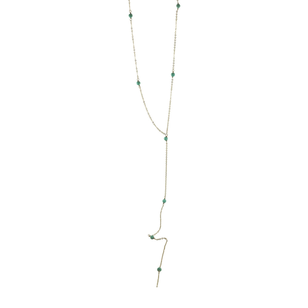 Sterling Silver Turquoise Lariat Y Necklace