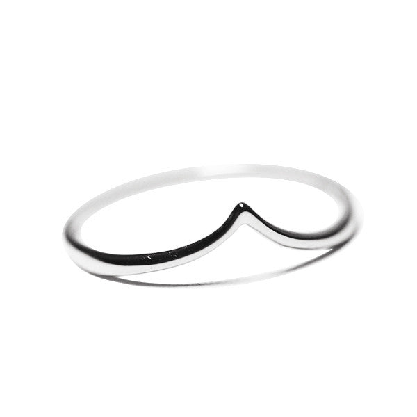 """Peaky"" Blackened Sterling Silver Thin Band Ring"