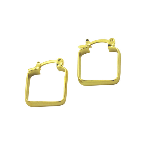 Gold Plated Square Hoop Earrings