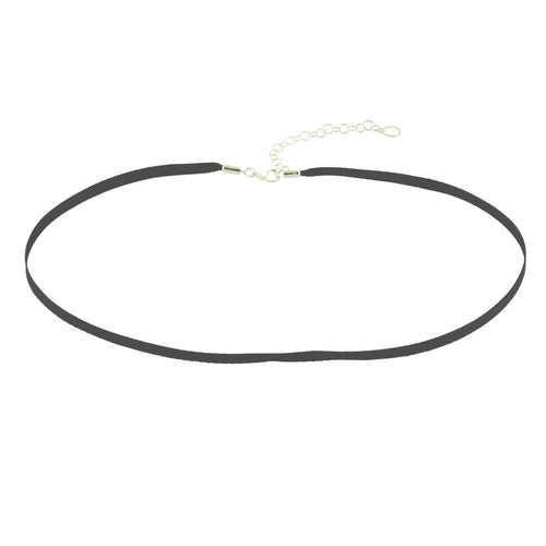 Thin Black Satin Choker Necklace