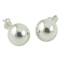 14kt White Gold Round Bead Earrings