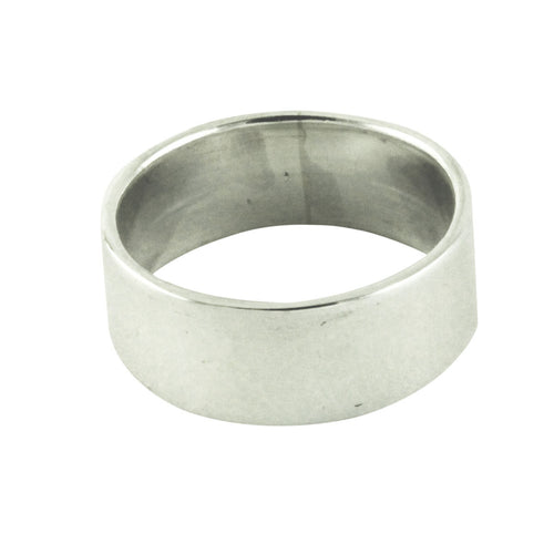 Sterling Silver Plain Wide Band Ring