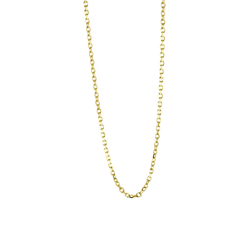 14k Yellow Dainty Shiny Link Chain Necklace