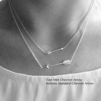 Sterling Silver Horizontal Arrow Pendant Necklace