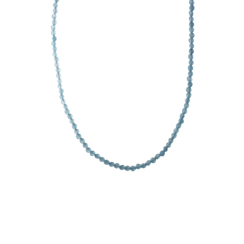 Sky Blue Stone Beaded Necklace
