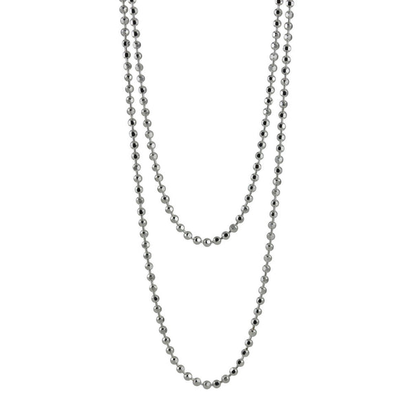 """Dots"" Sterling Silver Beaded Layering Necklace"