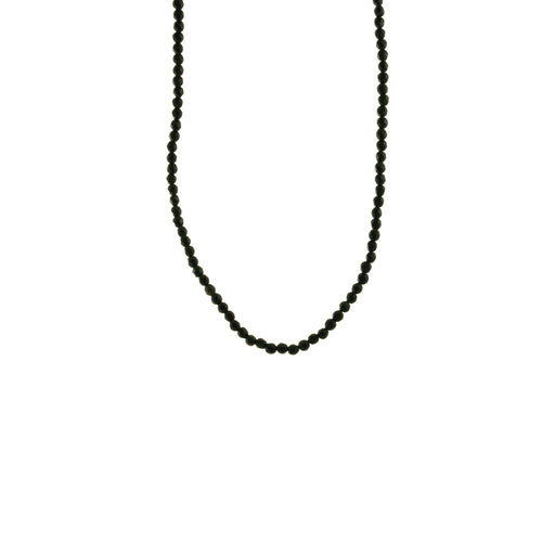 Black Stone Beaded Necklace