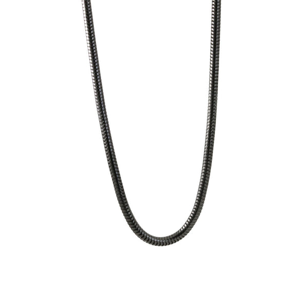 Blackened Silver Snake Chain Necklace