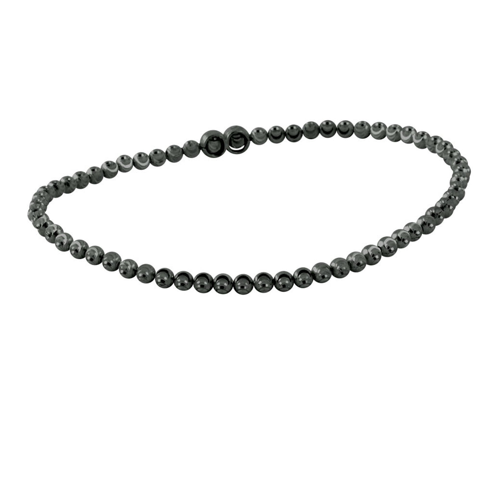 """Cosmos"" Sterling Moon Bead Stretch Bracelet"
