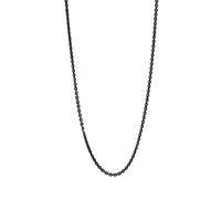 Blackened Silver Simple Cable Chain Necklace
