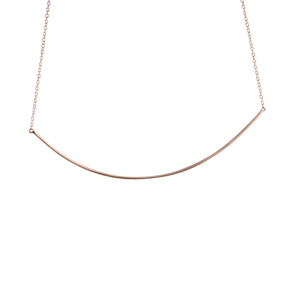 """Darling"" Rose Gold-Dipped Collar Bar Pendant Necklace"
