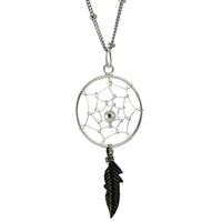 apop Sterling Silver DreamCatcher Pendant Necklace
