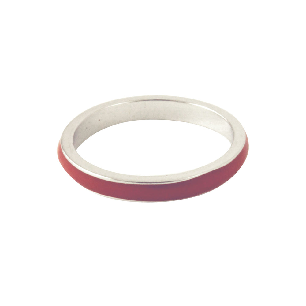 red enamel ring