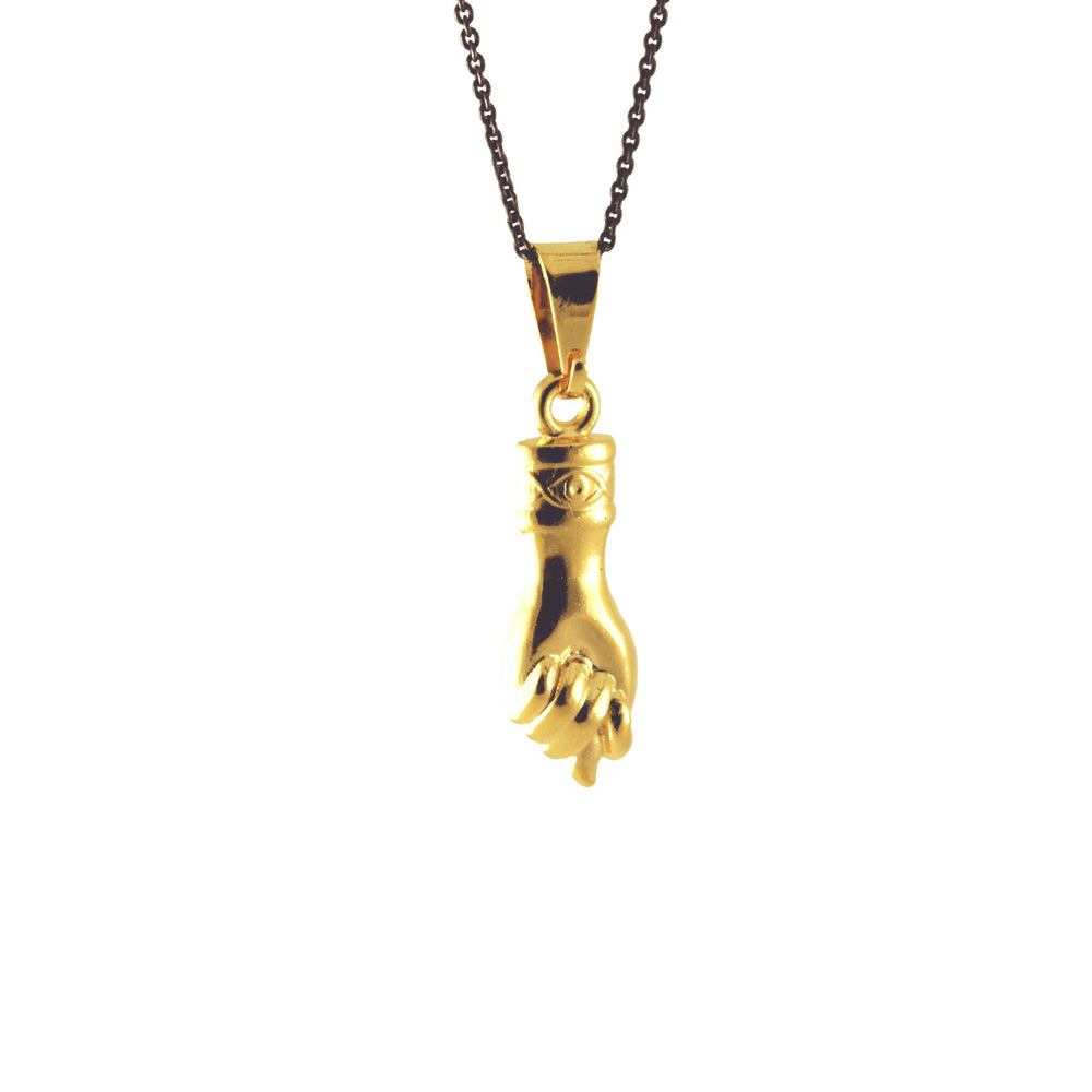 Gold Figa Hand Pendant Necklace