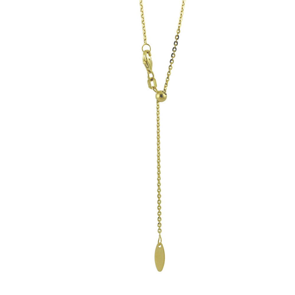 14k Gold Adjustable Bolo Chain Necklace