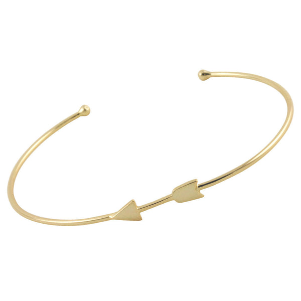 Gold-Dipped Arrow Cuff Bracelet