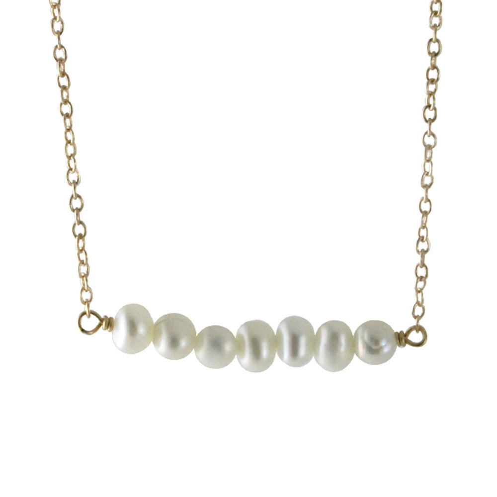 925 Silver Pearl Bar Necklace