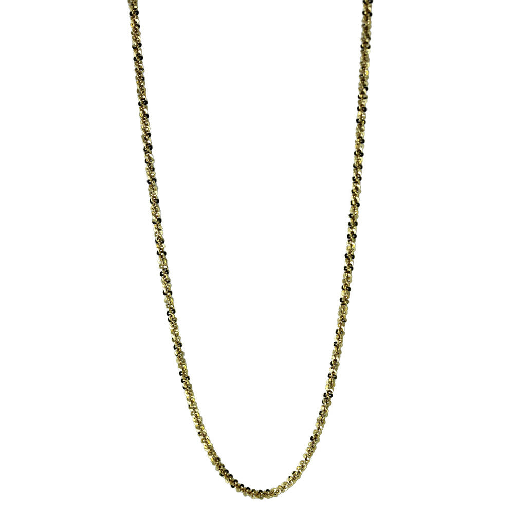 """Sequins"" Gold-Dipped Sparkle Chain Necklace"