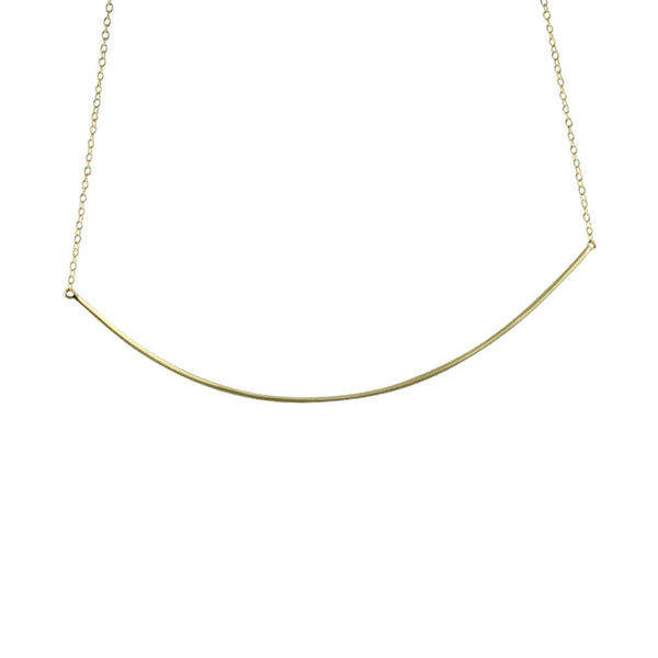 """Darling"" Gold-Dipped Collar Bar Pendant Necklace"