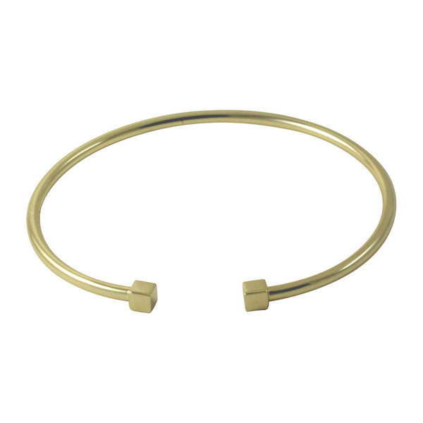 """QbK"" Double Cube Cuff Bangle Gold-Dipped"
