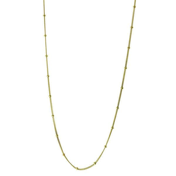 """Kombo"" Sterling Silver Curb Beaded Chain Necklace"
