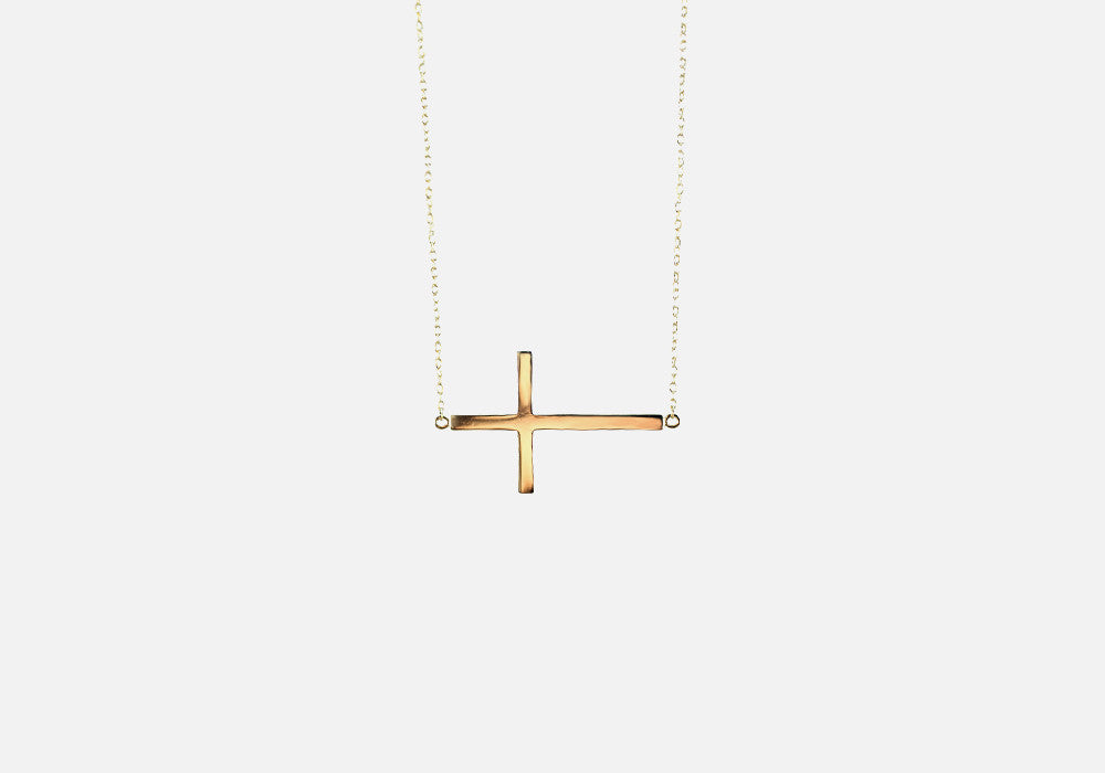 Gold-Dipped Cross Pendant Necklace 18 inch